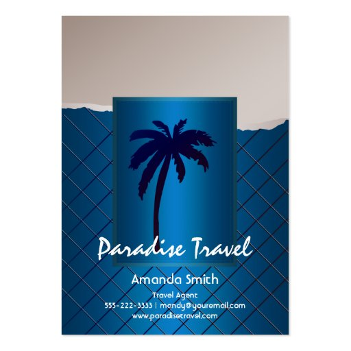 Palm Tree Blue Business Cards