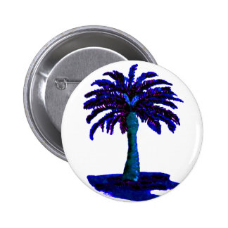 Palm Tree Blue The MUSEUM Zazzle Gifts Button