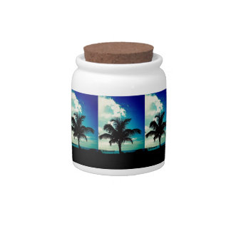 Palm Tree Blues Candy Jars