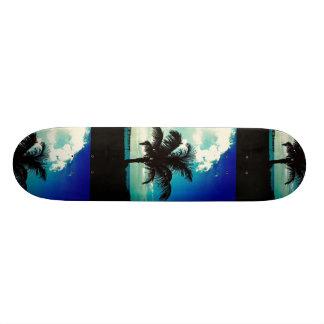 Palm Tree Blues Custom Skate Board
