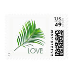 Palm Tree Branch Greenery Destination LOVE Stamp