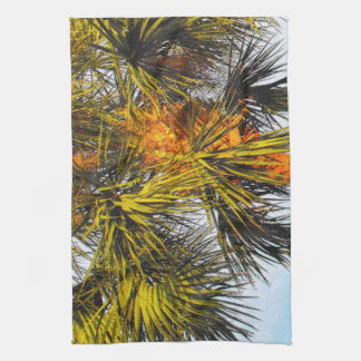 Palm Tree Branches, Afternoon Sun Kitchen Towel