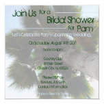 """Palm Tree Bridal Shower Invite 5.25"""" Square Invitation Card"""