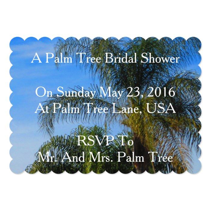 Palm Tree Bridal Showers Invitations