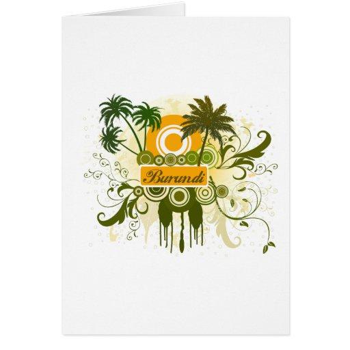 Palm Tree Burundi Card