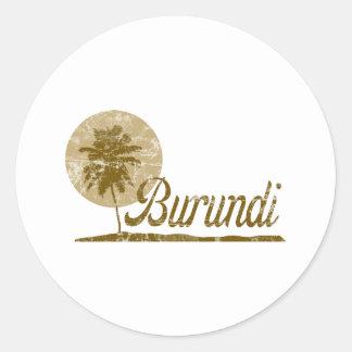 Palm Tree Burundi Classic Round Sticker