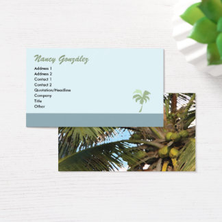 Palm Tree Business Card - blue