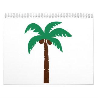 Palm tree calendar