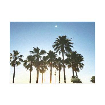 Beach Themed Palm Tree Canvas Art