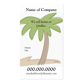 Palm Tree - Card Template