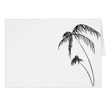 Beach Themed Palm Tree Carf Card