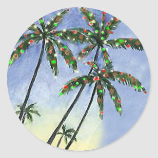 Palm Tree Christmas - gift tags Sticker