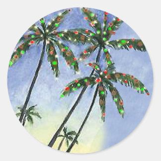 Palm Tree Christmas - gift tags Sticker