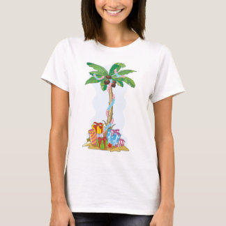 Palm Tree Christmas with gifts T-Shirt