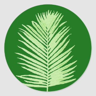 palm tree classic round sticker
