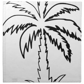 Palm Tree Cloth Napkin