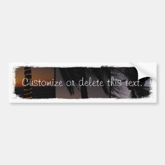 Palm Tree Collage; Customizable Bumper Sticker