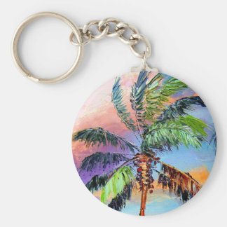 Palm Tree Colors Keychain