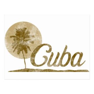 Palm Tree Cuba Postcard