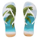 Palm Tree Custom Flip-Flops- make changes yourself Flip Flops