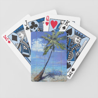 Palm tree deck bicycle playing cards