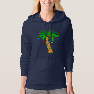 Palm Tree Decorated for Christmas Hoodie