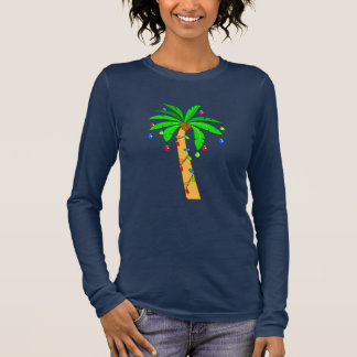 Palm Tree Decorated for Christmas Long Sleeve T-Shirt