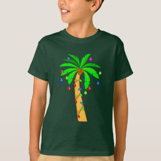 Palm Tree Decorated for Christmas T-Shirt