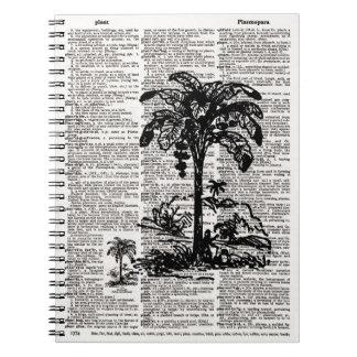 Palm Tree Dictionary Art Notebook
