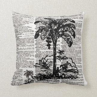 Palm Tree Dictionary Art Throw Pillow