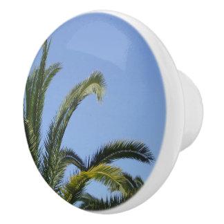 Palm Tree Dresser Knob Ceramic Knob