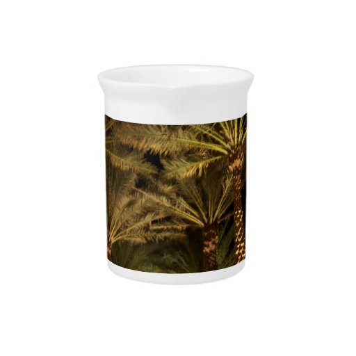 Palm tree drink pitchers
