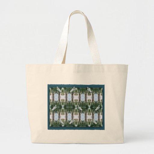 Palm Tree & Egret Canvas Bag