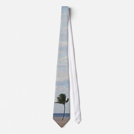 Palm Tree Enjoying the Beach Tie