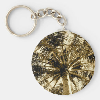Palm Tree Fan Keychain