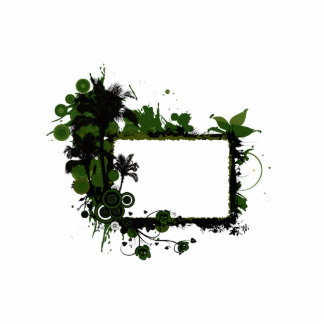 Palm tree frame green and black.png cutout