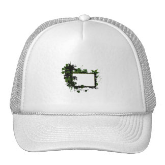 Palm tree frame green and black.png trucker hat
