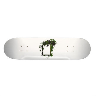 Palm tree frame green and black.png skateboard deck