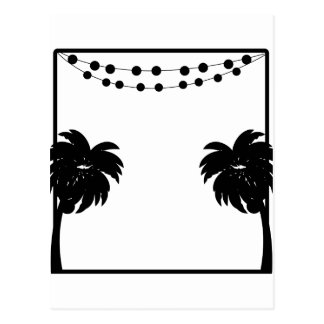 Palm Tree Frame Postcard