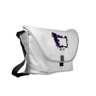 Palm tree frame purple and black.png courier bag