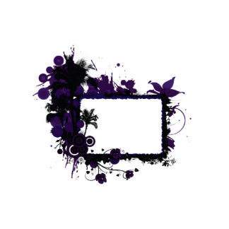 Palm tree frame purple and black.png photo cutout