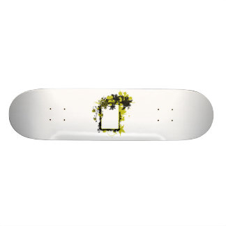 Palm tree frame yellow and black skateboard