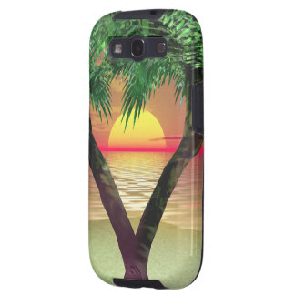 Palm Tree Framing a Sunset Samsung Galaxy SIII Cover