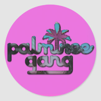 Palm Tree Gang Round Sticker [Turn It Up Edition]