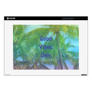 """Palm Tree """"Good Vibes Only"""" 15"""" Laptop Decals"""