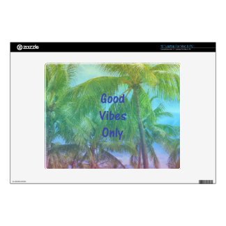 """Palm Tree """"Good Vibes Only"""" Decal For Laptop"""