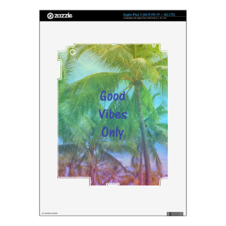 """Palm Tree """"Good Vibes Only"""" iPad 3 Decal"""