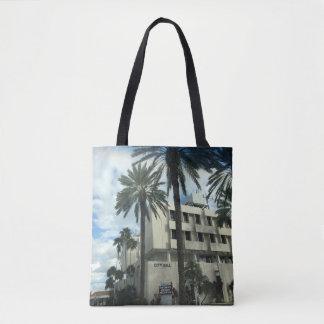 palm tree handbag tote