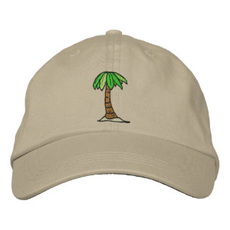 Palm Tree Hat Embroidered Baseball Caps