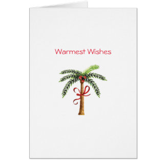 Palm Tree Holiday Greeting Card